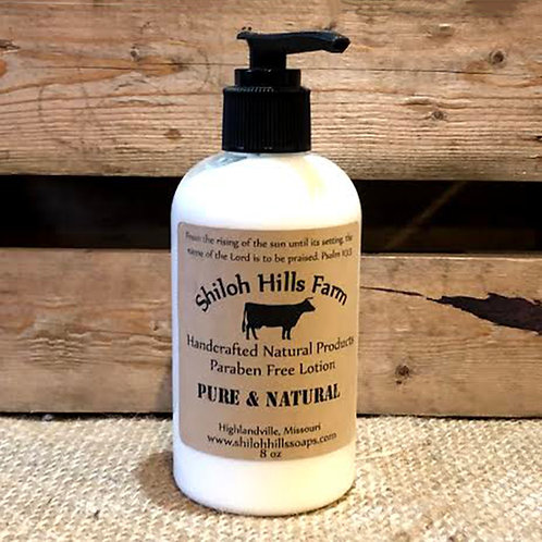 Shiloh Hills Farm Paraben Free Handcrafted Lotion - Pure & Natural