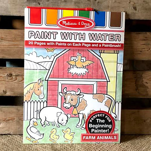 Farm Animals Paint with Water Kid's Art Pad