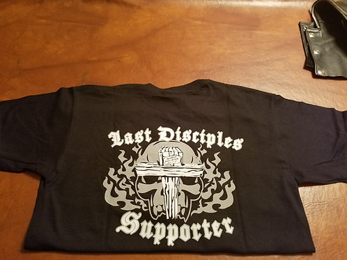 Cross and skull support shirt.