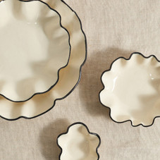 Nathalee Paolinelli Set of four Oyster ceramic bowls