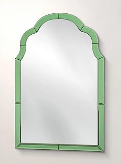 Aurora Green Glass Wall Mirror