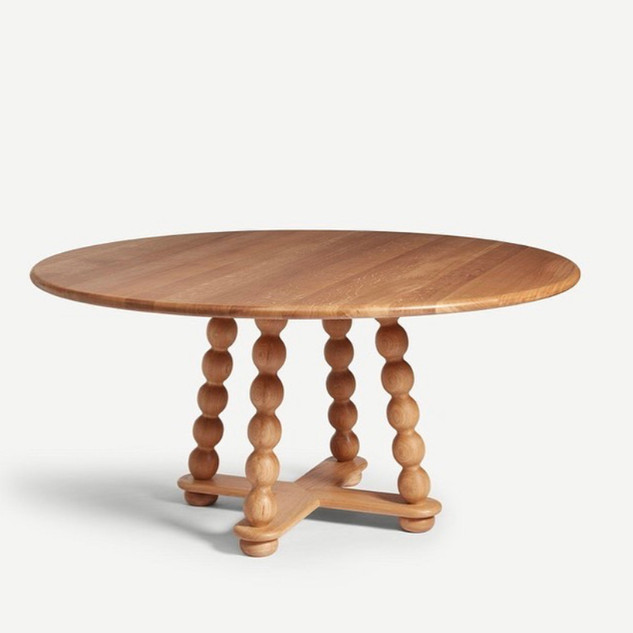 Bobbin Dining Table in Natural Oak