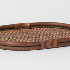 H&M Home - Oval rattan tray