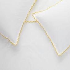scalloped edge single duvet cover set