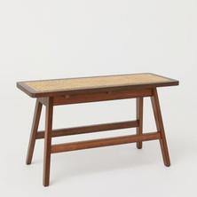 Rattan-seat bench