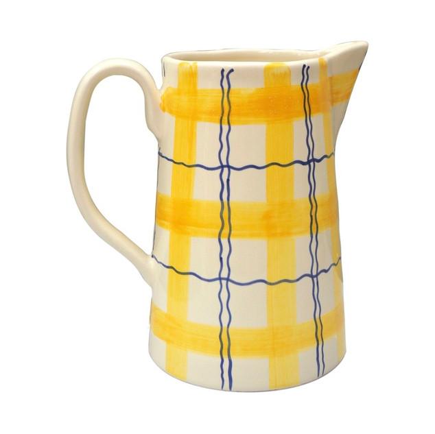 Matilda Goad - Tartan Squiggle Jug, Yellow