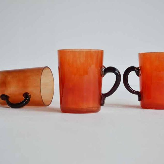 Set of 6 glass mugs