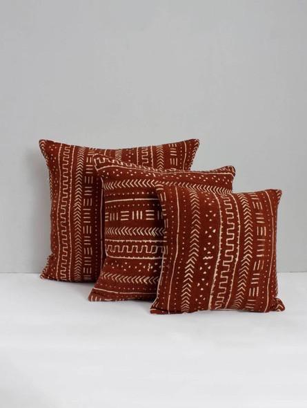 Mudcloth Cushions, Tobacco