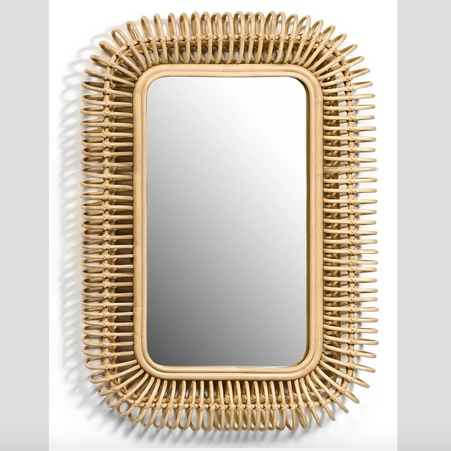 Tarsile Rectangular Rattan Mirror