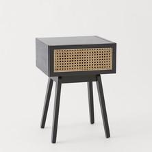 Rattan-drawer bedside table