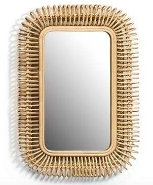 TARSILE Rattan Mirror