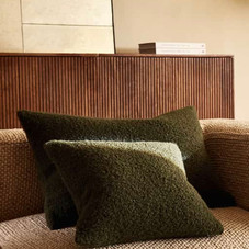 Boucle cushion cover