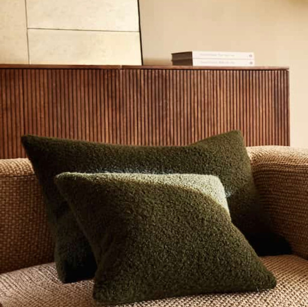 Boucle cushion cover