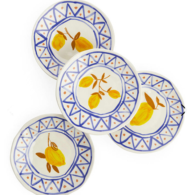 &klevering Lemon Plates, Set of 4