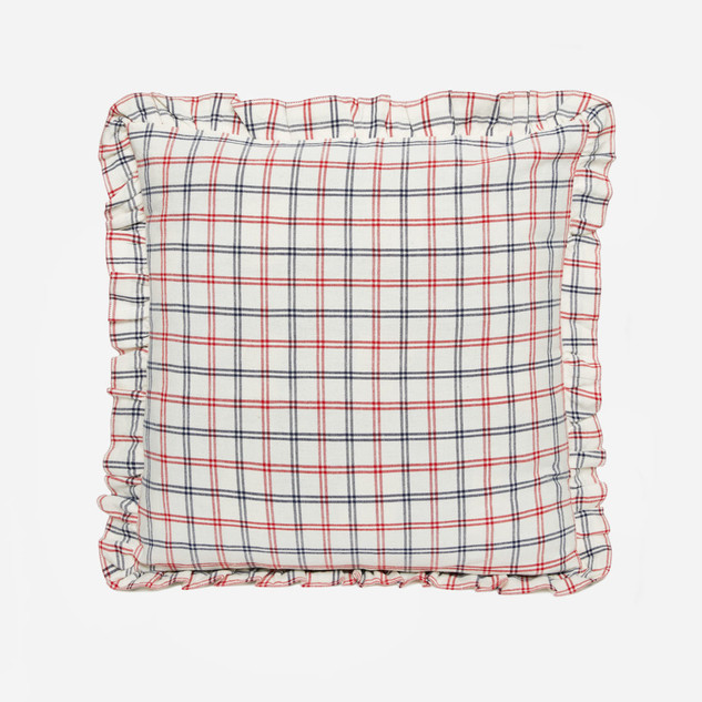 MAYFAIR PLAID – Red Pillow
