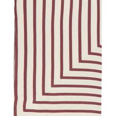 Concorde striped linen-sateen tablecloth