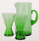 Beldi Green Glass jug and glasses.png