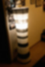 Ikea Lampe aus Alt mach Neu: Papierlampe mit schwarzen Kringeln, frei nach Tim Burton, Möbel