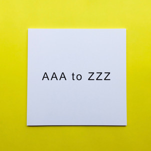 AAA to ZZZ