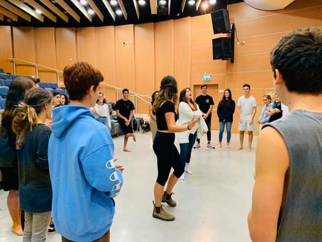 פעילות משותפת של מגמת תיאטרון עם תלמידי שדרות 11.11.19