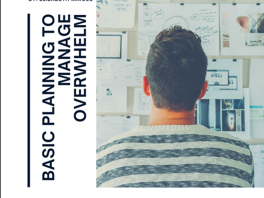 Basic Planning to Manage Overwhelm