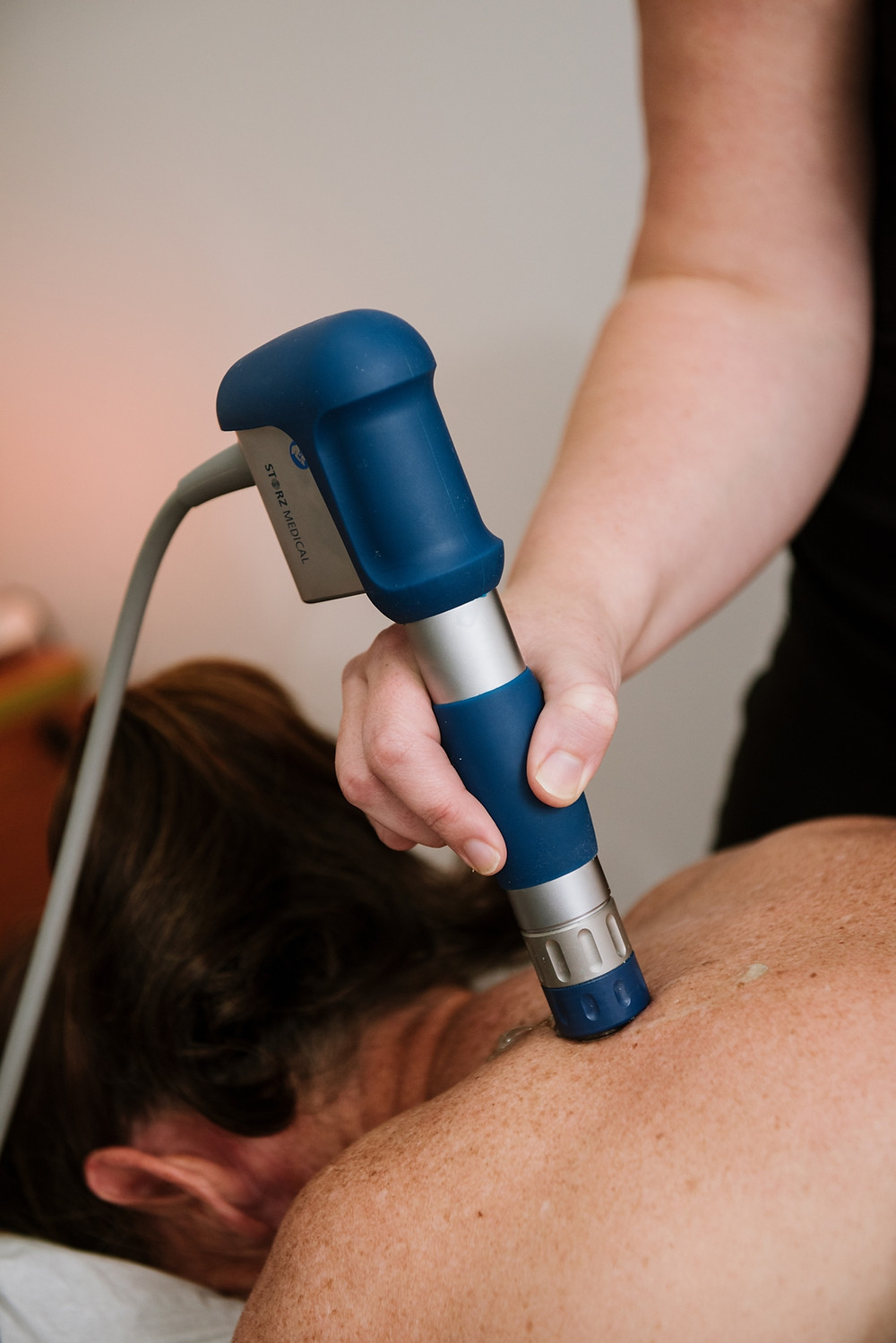 Shockwave therapy for shoulders.