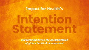 Impact for Health's Intention Statement