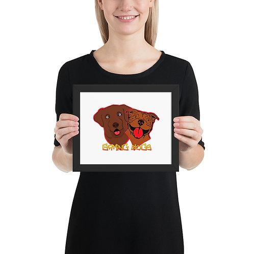 Gaming Dogs - Framed poster