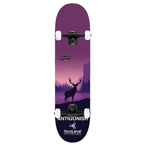 Kids Complete Skateboard UFO Deer