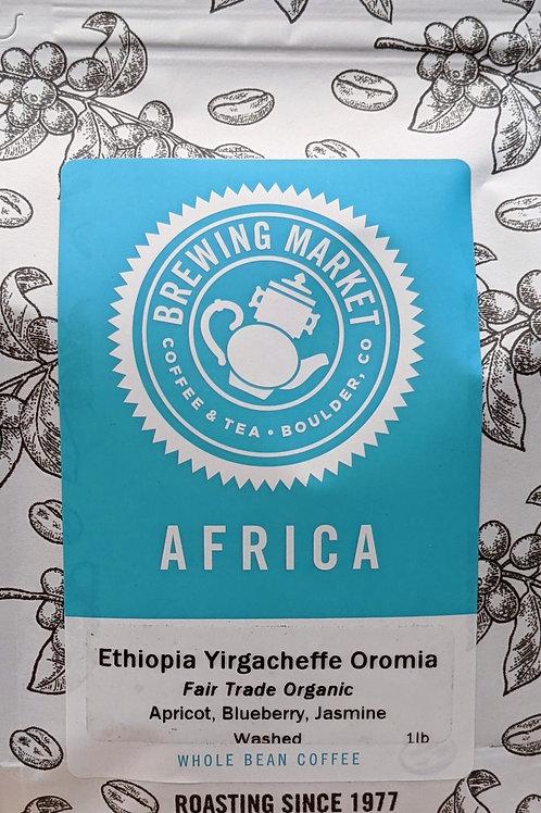 Fair Trade Organic Ethiopia Yirgacheffe Oromia - 16 oz.