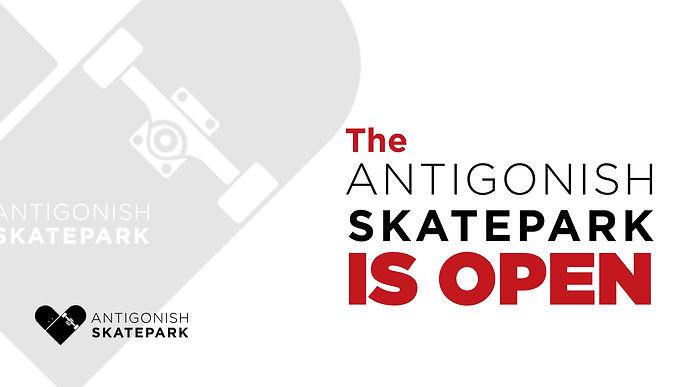 Antigonish skatepark is open facebook ba
