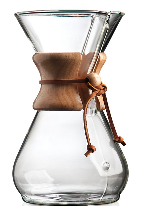 Chemex Pour Over Glass Coffeemaker - 8 Cup