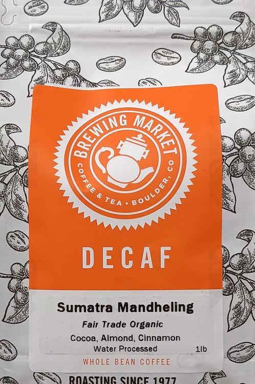 Decaf Sumatra Mandheling Fair Trade Organic - 16 oz