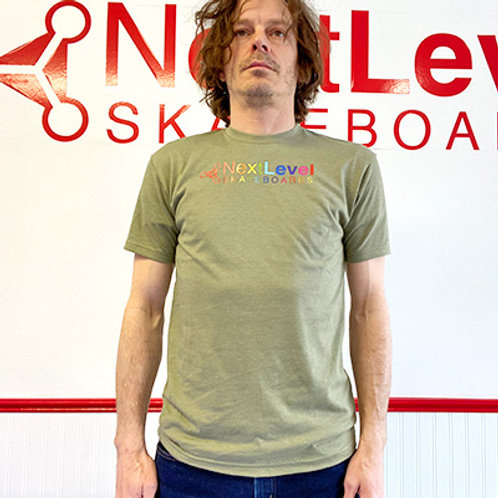 Next Level Skateboards Rainbow OG Logo T-Shirt