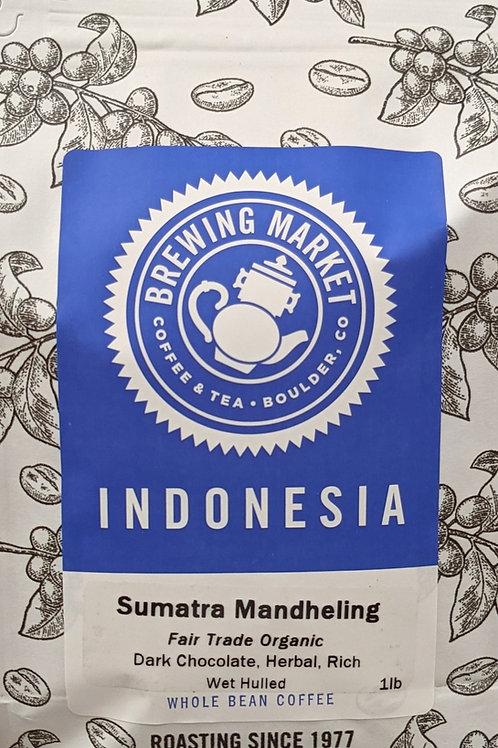 Fair Trade Organic Sumatra Ketiara Gayo Mandheling  - 16 oz.