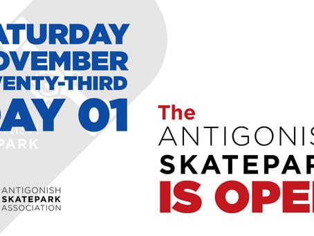 Antigonish Skatepark is OPEN