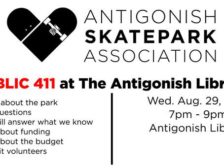 Antigonish Skatepark Association public meeting