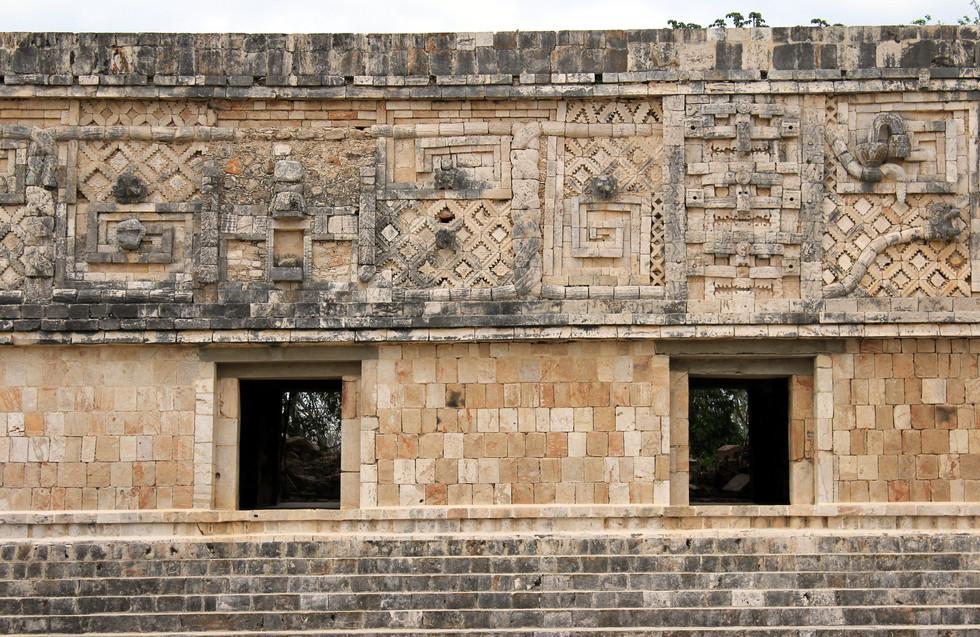 19 - Uxmal - Quadrilatère des Nonnes - Architecture Puuc