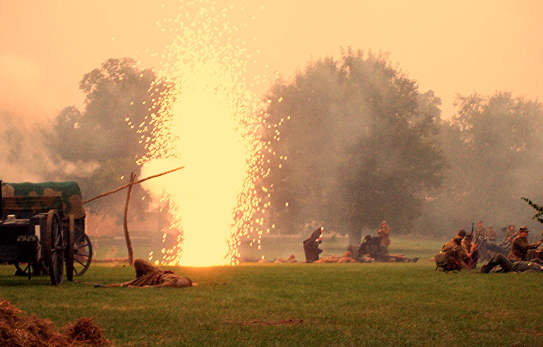Artillery fire...