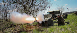 Our AT gun in action