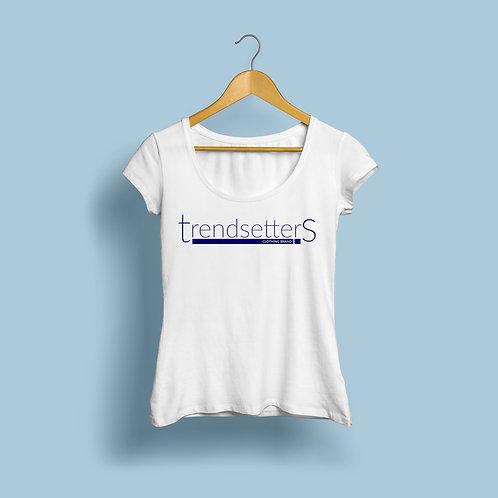 Trendsetters Logo Tee -White