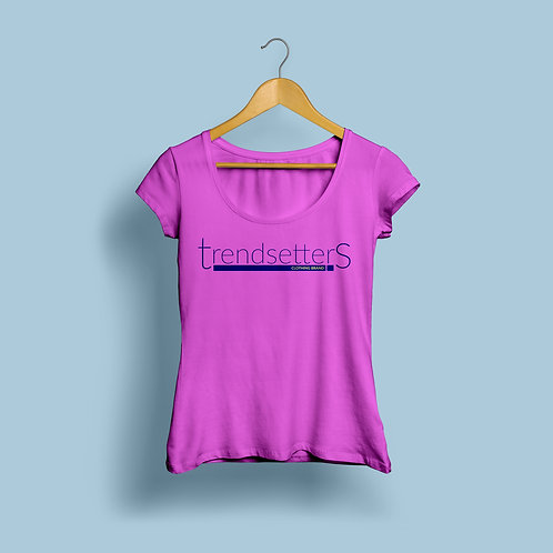 Trendsetters Logo Tee - Hot Pink