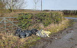 Fly tipping - dumped waste