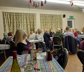 Party time at the village hall