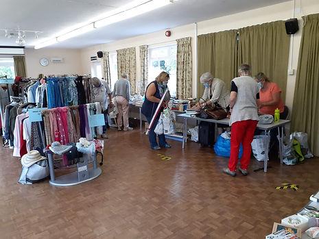 Ladies serving at the sale