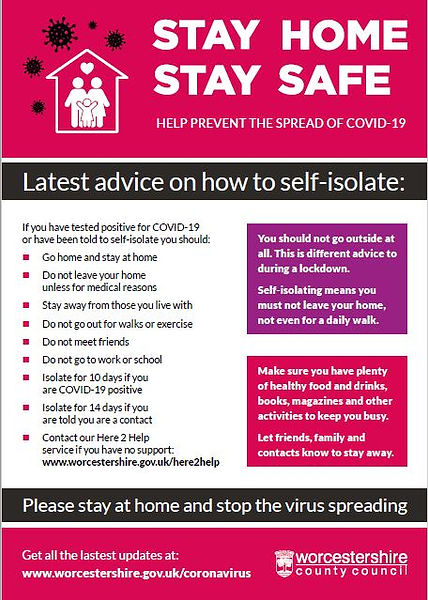 Covid Poster - Stay Home Stay Safe