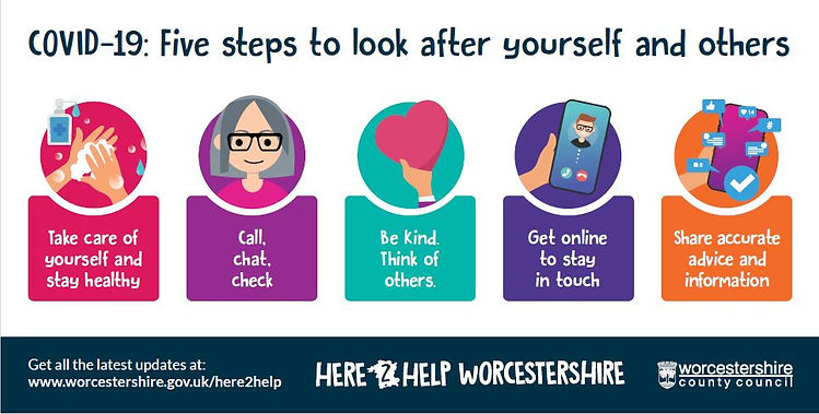 Covid Poster - 5 steps to look after yourself