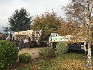 Cement lorries arrive