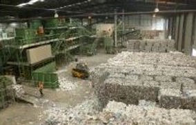 Stacks of waste at the Recycle Plant