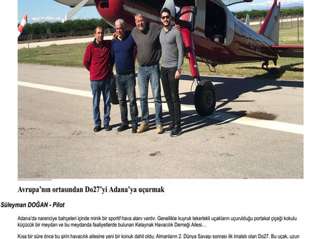 Avrupa'nın ortasından Do27'yi Adana'ya uçurmak